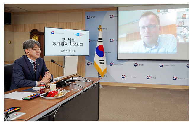 Korea-Czech, Covid-19 Bilateral Conference on Statistical Cooperation